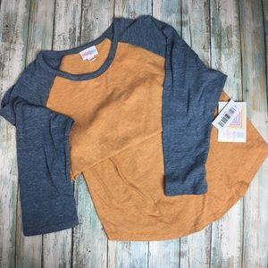 orange and steel blue LuLaRoe Randy, Small